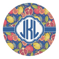 Pomegranates & Lemons Round Decal - Custom Size (Personalized)