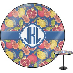 Pomegranates & Lemons Round Table (Personalized)