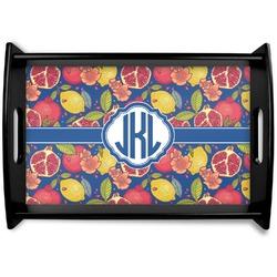 Pomegranates & Lemons Black Wooden Tray (Personalized)