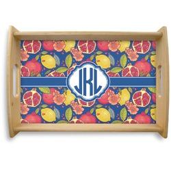 Pomegranates & Lemons Natural Wooden Tray (Personalized)
