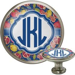 Pomegranates & Lemons Cabinet Knob (Silver) (Personalized)