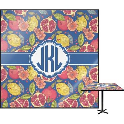 Pomegranates & Lemons Square Table Top (Personalized)
