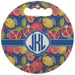 Pomegranates & Lemons Stadium Cushion (Round) (Personalized)