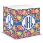 Pomegranates & Lemons Sticky Note Cube (Personalized)