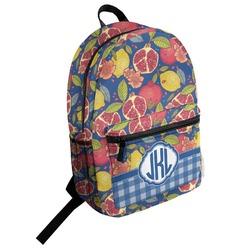 Pomegranates & Lemons Student Backpack (Personalized)