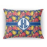 Pomegranates & Lemons Rectangular Throw Pillow Case (Personalized)