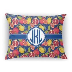 Pomegranates & Lemons Rectangular Throw Pillow Case (Personalized)