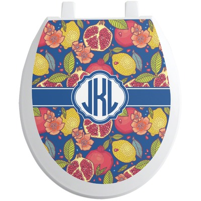Pomegranates & Lemons Toilet Seat Decal (Personalized)