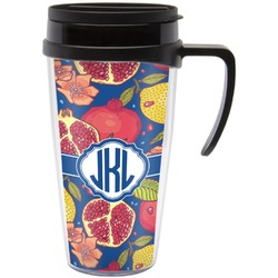 Pomegranates & Lemons Travel Mug with Handle (Personalized)