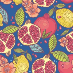 Pomegranates & Lemons Wallpaper & Surface Covering