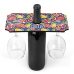 Pomegranates & Lemons Wine Bottle & Glass Holder (Personalized)