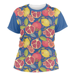 Pomegranates & Lemons Women's Crew T-Shirt (Personalized)