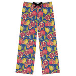 Pomegranates & Lemons Womens Pajama Pants (Personalized)
