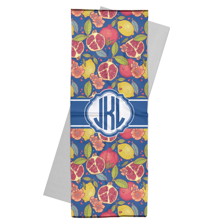 Pomegranates & Lemons Yoga Mat Towel (Personalized