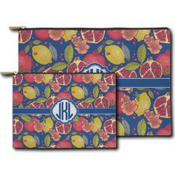 Pomegranates & Lemons Zipper Pouch (Personalized)