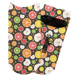 Apples & Oranges Adult Ankle Socks (Personalized)