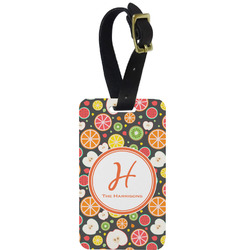 Apples & Oranges Aluminum Luggage Tag (Personalized)