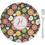 "Apples & Oranges Glass Appetizer / Dessert Plates 8"" - Single or Set (Personalized)"