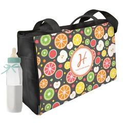 Apples & Oranges Diaper Bag w/ Name and Initial