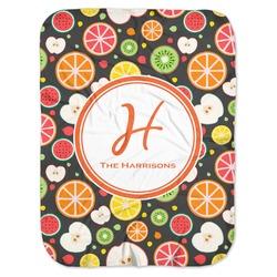 Apples & Oranges Baby Swaddling Blanket (Personalized)