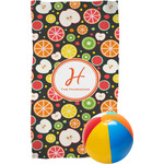 Apples & Oranges Beach Towel (Personalized)