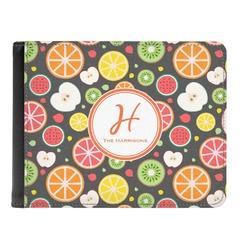 Apples & Oranges Genuine Leather Men's Bi-fold Wallet (Personalized)