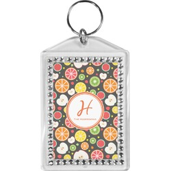 Apples & Oranges Bling Keychain (Personalized)