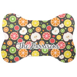 Apples & Oranges Bone Shaped Dog Food Mat (Personalized)