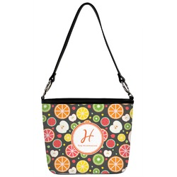 Apples & Oranges Bucket Bag w/ Genuine Leather Trim (Personalized)