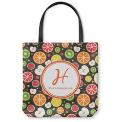 Apples & Oranges Canvas Tote Bag (Personalized)