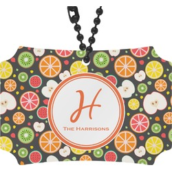 Apples & Oranges Rear View Mirror Ornament (Personalized)