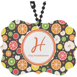 Apples & Oranges Rear View Mirror Charm (Personalized)