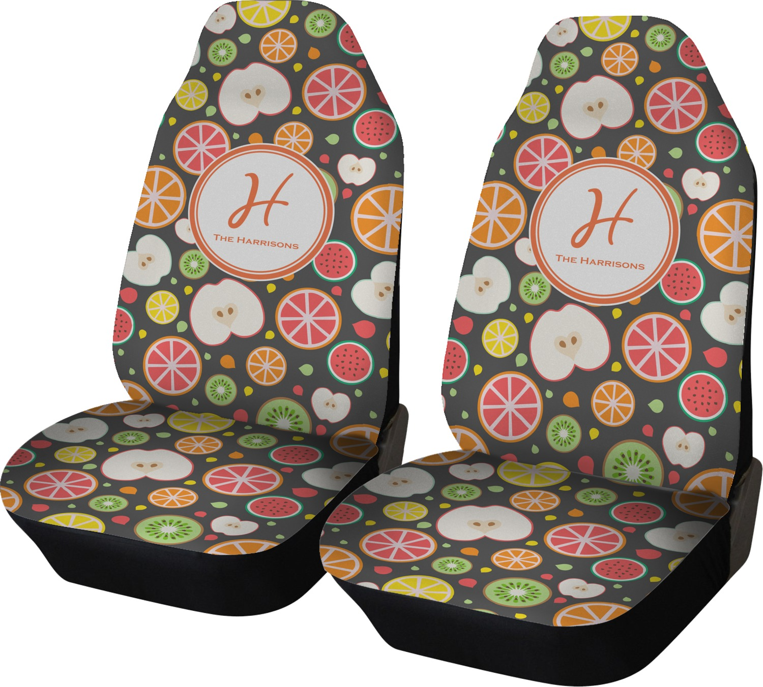 Apples Amp Oranges Car Seat Covers Set Of Two