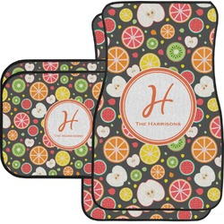 Apples & Oranges Car Floor Mats Set - 2 Front & 2 Back (Personalized)