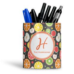 Apples & Oranges Ceramic Pen Holder