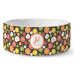Apples & Oranges Ceramic Dog Bowl (Personalized)