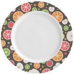 Apples & Oranges Ceramic Dinner Plates (Set of 4) (Personalized)