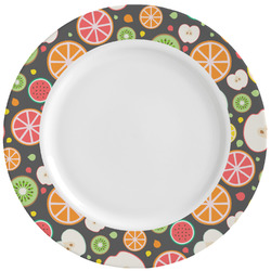 Apples & Oranges Ceramic Dinner Plates (Set of 4) (Personalized)