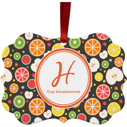 Apples & Oranges Ornament (Personalized)