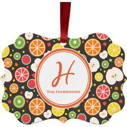 Apples & Oranges Ornament (Personalized)