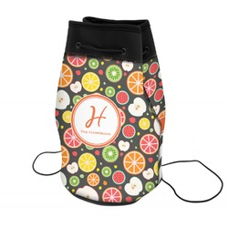 Apples & Oranges Neoprene Drawstring Backpack (Personalized)