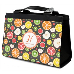 Apples & Oranges Classic Tote Purse w/ Leather Trim w/ Name and Initial