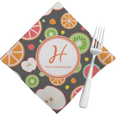 Apples & Oranges Napkins (Set of 4) (Personalized)