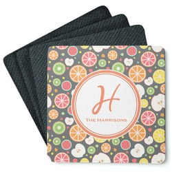 Apples & Oranges 4 Square Coasters - Rubber Backed (Personalized)