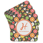 Apples & Oranges Cork Coaster - Set of 4 w/ Name and Initial