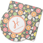 Apples & Oranges Rubber Backed Coaster (Personalized)
