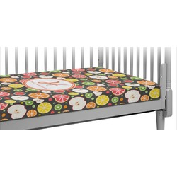 Apples & Oranges Crib Fitted Sheet (Personalized)
