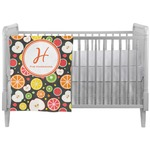 Apples & Oranges Crib Comforter / Quilt (Personalized)