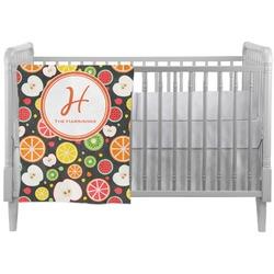 Apples & Oranges Crib Comforter / Quilt (Personalized)