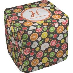 Apples & Oranges Cube Pouf Ottoman (Personalized)